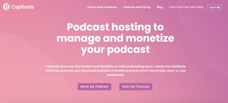 captivate podcast submission website