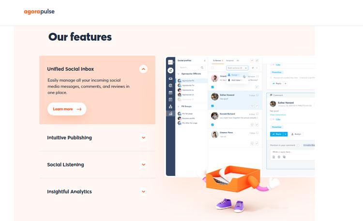 agorapulse social media tool