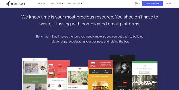 benchmark email marketing tool