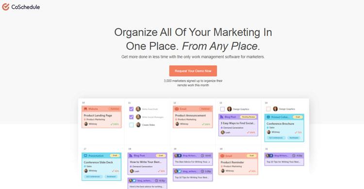 coschedule social media tool