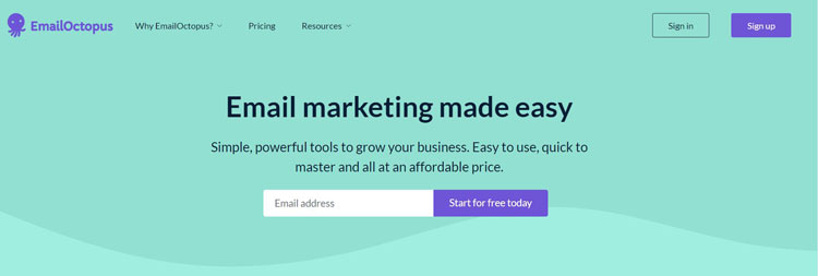 emailoctopus email marketing tool