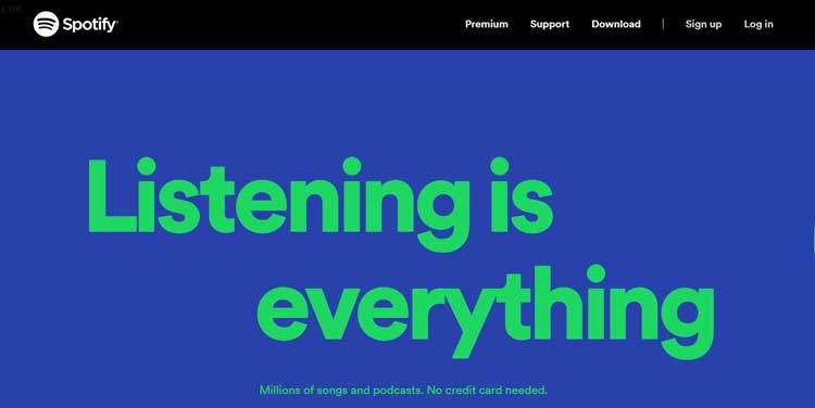 spotify audio hosting website