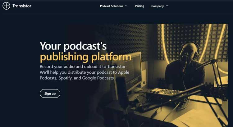 transistor audio hosting website