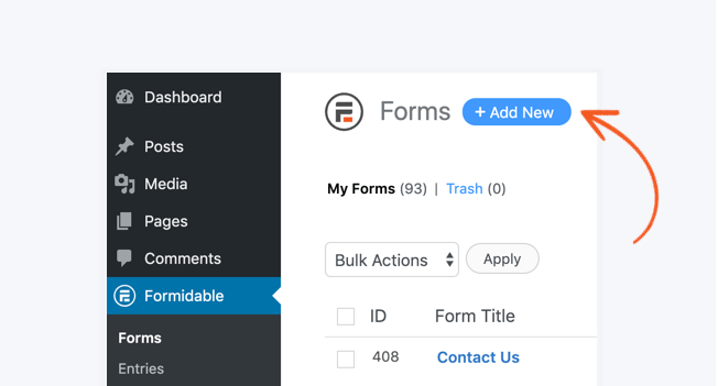 Formidable add new form