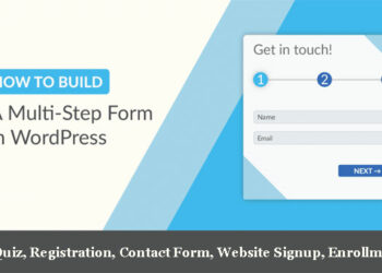 how to create multi step form in wordpress website