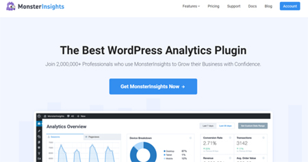 monsterinsights analytics plugin