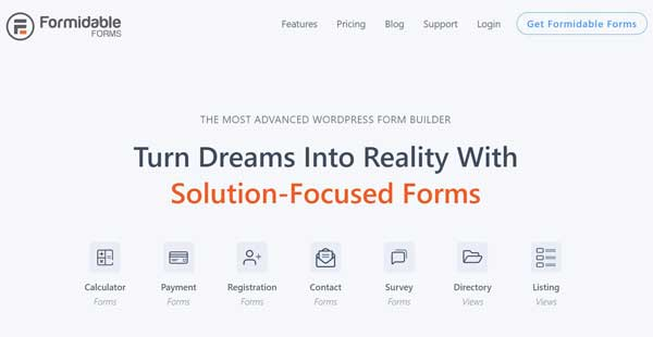 Formidable Forms Plugin Screenshot