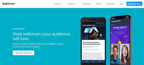 bigmarker webinar tool image