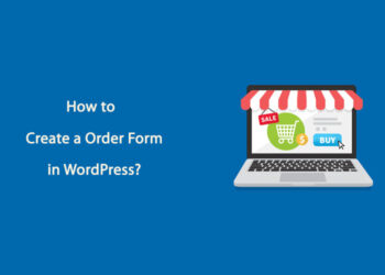 how to create a order form in wordpress